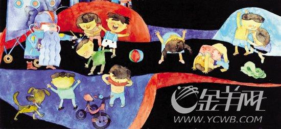 曹武亦的童话插画作品《外星人收破烂》