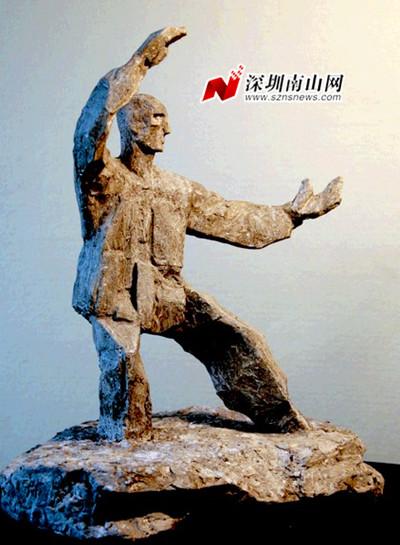 石头人雕塑雕刻自己