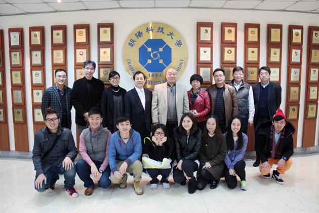 书记陈小波带队,一行6人先后访问了高雄第一科技大学